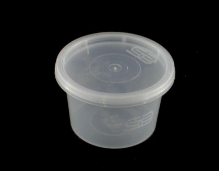 4oz Satco Clear Plastic Pot With Lid